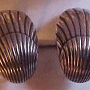 Georg Jensen Denmark Sterling Silver Shell Screw Back Earrings