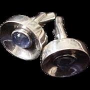 Antonio Pineda 970 Silver Cufflinks with Blue Moonstones