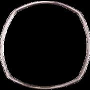 TANE Sterling Silver Square Bangle Bracelet