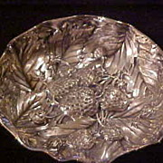 Gorham Victorian  Repousse Sterling Silver Strawberry Bowl