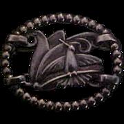 Rare McClelland Barclay Sterling Silver Hummingbird & Flower Brooch Pin