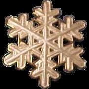 Rare Vintage  David Andersen Sterling Silver Norway Snowflake Brooch Pin