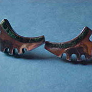 Vintage Salvador Teran Sterling Modernist Earrings, Eagle Mark