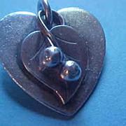 La Paglia Sterling Silver Heart Pendant