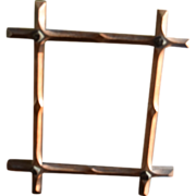 19th Century frame-tramp art criss cross style from walnut.
