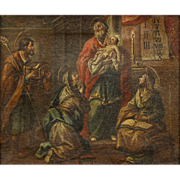 Painting, German School (18th Century), Presentation of Christ in the Temple
