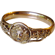 Victorian Bates and Bacon Gold Filled Lion Head Bracelet