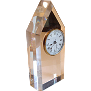 Vintage Lucite Table Clock Made in France