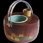 Antique Japanese Kiri Wood Tabako-Bon Smoking Set (Tobacco Set)