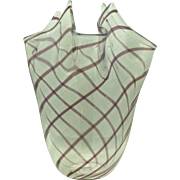 Seguso Murano Art Glass Vase