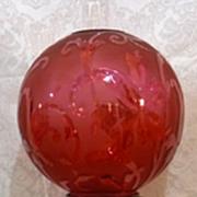 Sherwoods Birmingham Cranberry Crystal Oil Lamp