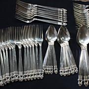 SALE 133  Pieces - International Sterling Silver - Royal Danish Pattern Flatware