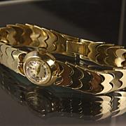 Ladies 14K Gold Omega Deco Wrist Watch