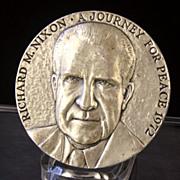 SALE Richard M. Nixon - Journey for Peace, 1972 by Medallic Arts, 5.33 oz .999 ...