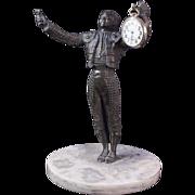 SALE 11 Inches Tall -Matador Statue Pocket Watch Holder