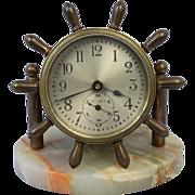 SOLD Chelsea  Ship Wheel Shelf  Clock