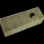Art Deco 800 Silver Lipstick Case