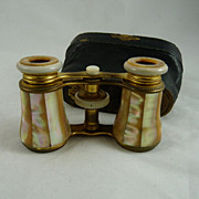 Antique Victorian Mother of Pearl Opera Glasses Original Case