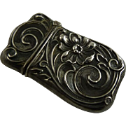 Art Nouveau Silver Match Safe or Vesta