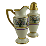 Vintage Art Deco Noritake Berry Creamer and Muffineer