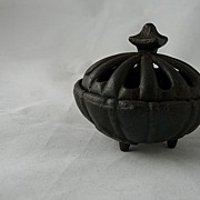 SOLD Vantine's Incense Burner - Round with Leaf Feet