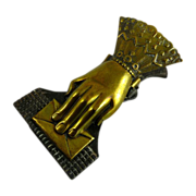 SOLD Victorian Brass Desk Clip Hand Form