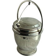 Mid Century Silver Plated Ice Bucket Mercury Glass Liner