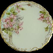 Antique Limoges Plate Tressemann and Vogt T&V Wild Roses