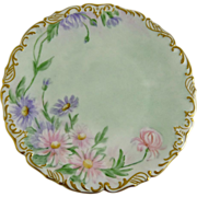 Hand Painted Limoges Plate Tressemann and Vogt (T&V) Antique
