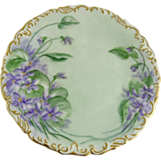 Tressemann and Vogt Limoges Porcelain Hand Painted Plate