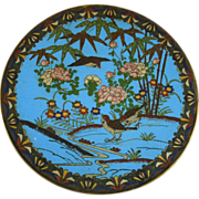 Antique Japanese Meiji Era Cloisonne Charger