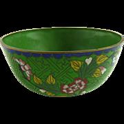 Chinese Cloisonne Enamel Bowl