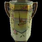 Hand Painted Nippon Porcelain Cabinet Vase