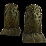 Art Deco Owl Bookends