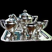 Antique Edwardian Silver Plate Tea Service 5 Piece