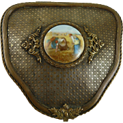 Vintage French Art Deco Brass Vanity Box