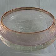 Vintage Mark Matthews Controlled Bubble Glass Bowl