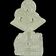 Vintage Czech Glass Perfume Bottle Art Deco