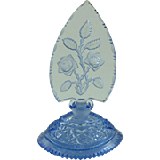 Vintage Art Deco Czech Perfume Bottle Cut Glass Intaglio Stopper