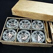 Czech Glass Open Salts in Original Box