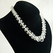 Art Deco Rock Crystal Necklace Chinese Export