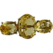 Victorian Citrine Bar Pin Brooch