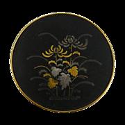 Vintage Japanese Damascene Brooch Amita