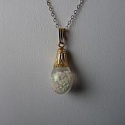 SOLD Horace H. Welch Floating Opal Pendant in 14K Gold Art Deco Mount