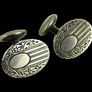 Vintage Sterling Silver Cufflinks Edwardian