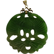 Chinese Jade Pendant Pierced and Carved