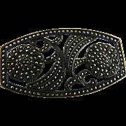 Art Deco Sterling Marcasite Pin Brooch Flowers