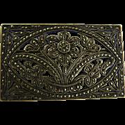Art Deco Sterling Marcasite Brooch Floral Design