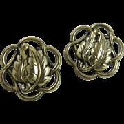 Pair of Sterling Danecraft Leaf Scatter Pins