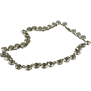 SOLD Antique Edwardian Open Back Crystal Riviere Necklace